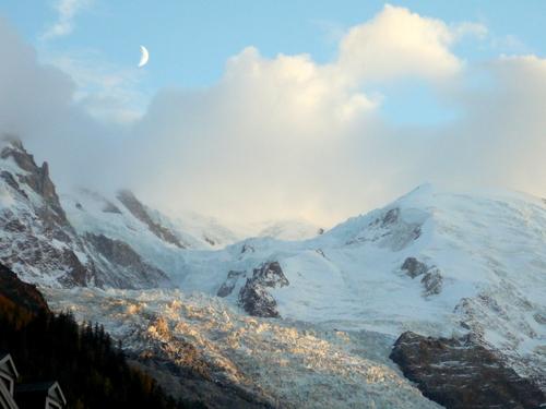 evening glacier